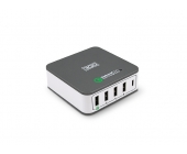 ALIMENTADOR HOGAR USB 1QC+3USB+1TYPE-C 40W