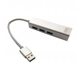 HUB USB 3.0 3 PUERTOS USB3.0 + ETHERNET  1PTO